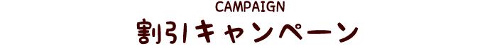 割引キャンペーン
